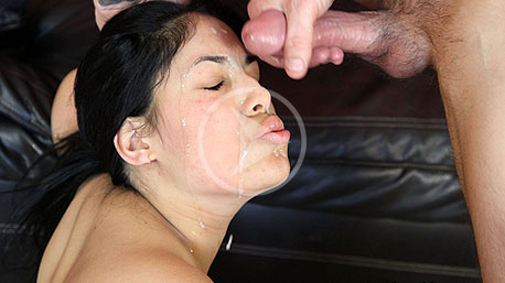 Deanna Gets A Huge Load of Cum To Her Face